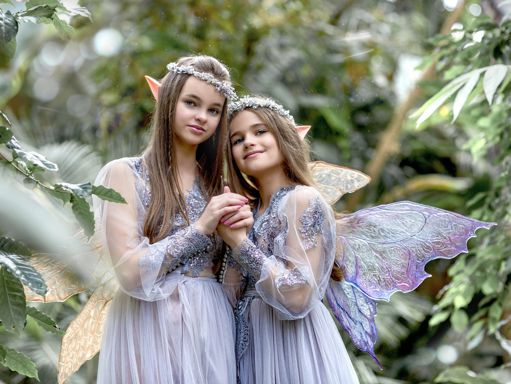 Beautiful Elves in the Garden of Eden