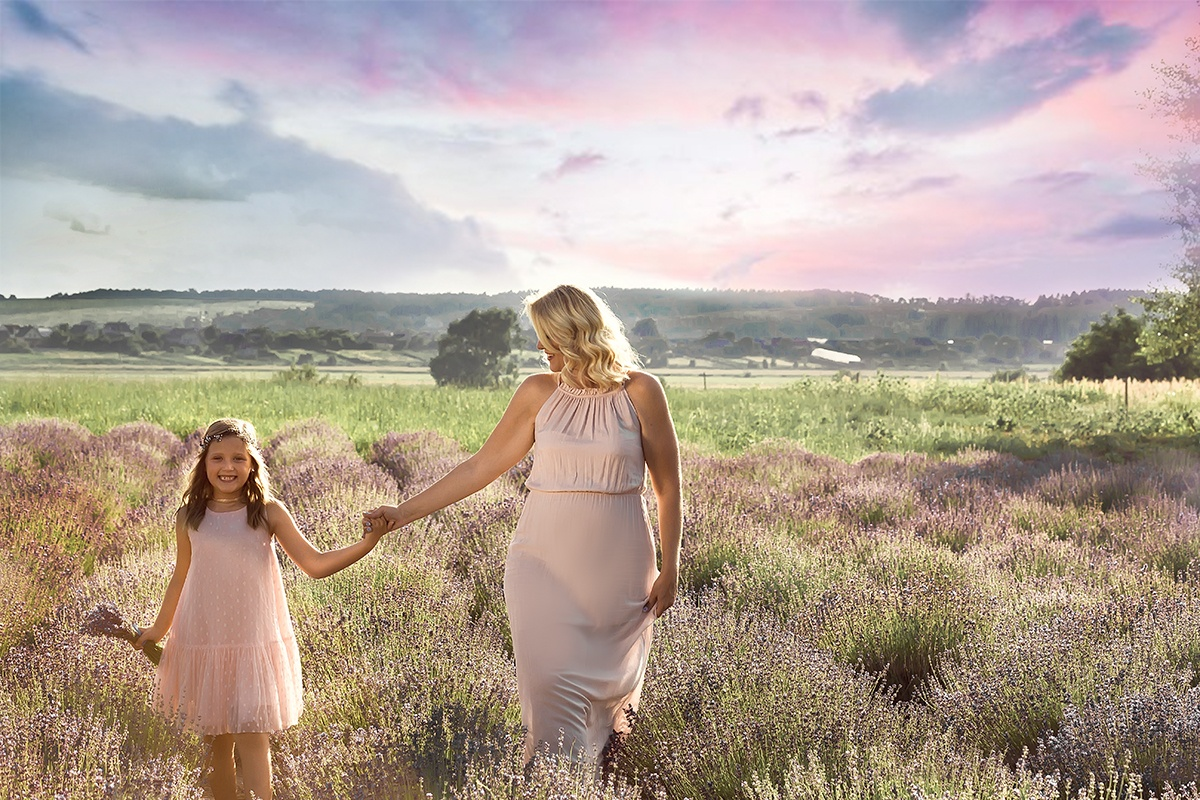 Family trip to the lavender field